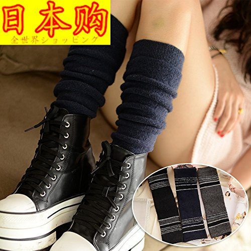Japanese woman commercially sock piles thickened cashmere winter socks in tube socks cotton wool socks solid lines Mori