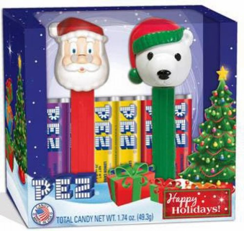 Happy Holidays 2-pack Dispensers and Candy - Santa, Polar Bear