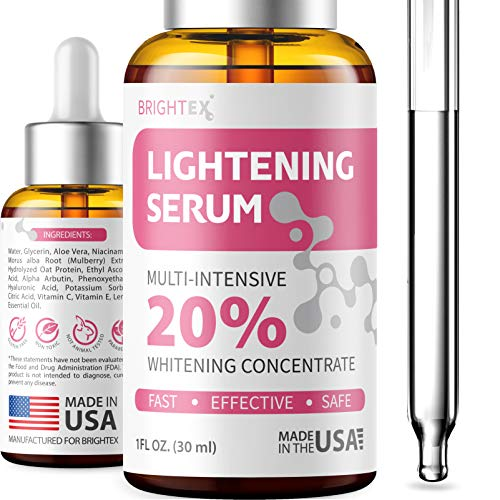 Brightening Serum - Made in USA - Dark Spot Remover Corrector for Face - Niacinamide, Hyaluronic Acid & Alpha Arbutin Serum - Better than Hydroquinone for Hyperpigmentation, Melasma & Sun Spots - 1oz (Best Makeup To Cover Melasma On Face)