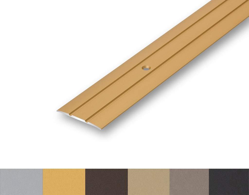 in 4 Eloxalfarben inkl 900 mm, gold 4,66/€//m /Übergangsprofil 38 mm gebohrt Montageset