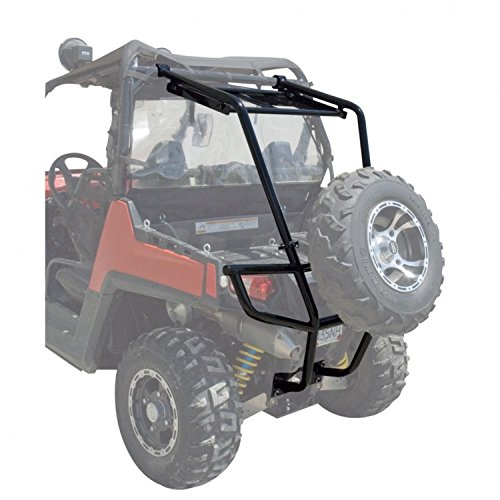 Tusk UTV Rear Bumper, Cargo Rack, and Spare Tire Carrier and Free Unhinged ATV Hat! – Fits: Polaris RANGER RZR XP Turbo EPS 2016–2017