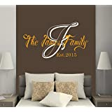 Family Wall Decals Established Year Decal Monogram Stickers Living Room Home Bedroom Decor Ds320