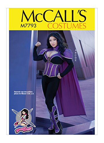 McCall's Patterns M7793A5 Women's Superhero Halloween and Cosplay Costume Sewing Pattern by Yaya Han, Sizes 6-14