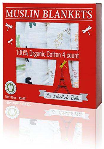 4-pack-organic-cotton-premium-muslin-blanket-by-la-libellule-bebe-great-baby-shower-gift