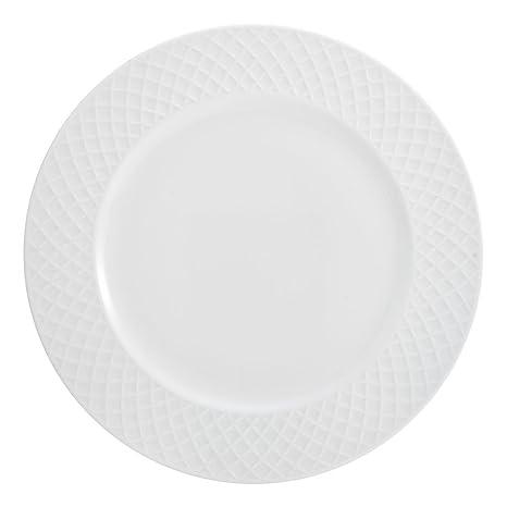 17cd6b93fd33 MIKASA Mikasa Trellis White Dinner Plate - The Trellis dinnerware collection