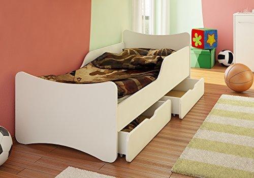 Best For Kids Kinderbett mit Schaummatratze TÜV Zertifiziert MIT Zwei SCHUBLADEN 80x200