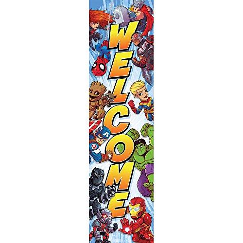 Eureka Marvel Heroes Welcome Back to School Classroom Door Decoration 12'' x 45'']()
