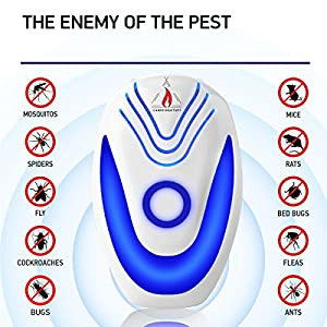 Campfire Stuff NEW 2018 Ultrasonic Pest Repeller (6-Pack) – Electronic & Ultrasound, Indoor Plug-In Repellent | Anti Mice, Insects, Bugs, Ants, Mosquitos, Rats, Roaches, Rodents - Child Safe Control
