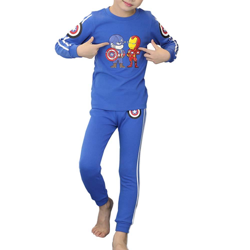 37b174d36 Héroe Pijama Para Niños Cálido Ropa Cómoda 2 Piezas De Invierno Homewear  Pijamas Ropa De Dormir Rojo Azul  Amazon.es  Ropa y accesorios