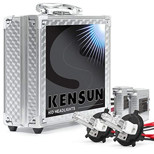HID Xenon Headlight Conversion Kit by Kensun, H4 Low-Beam Xenon/High-Beam Halogen, 6000K - 2 Year ()
