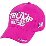 Trump with American Flag Cotton Baesball Cap (Hot Pink)