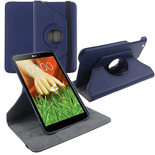 LG G Pad 8.3 Case, E-fashion 360 Degree Rotating Synthetic Leather Smart Case Ultra Slim With Hard Plastic Shell for 8.3