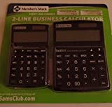 Member's Mark 2-Line business calculator combo, black