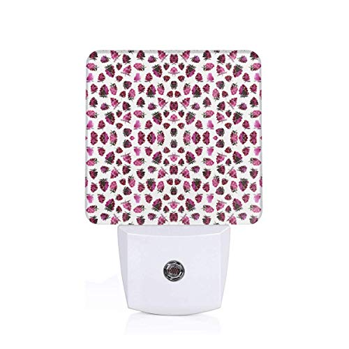 LFCLOSET Watercolor Blackberries Plug-in LED Night Light with Dusk-to-Dawn Sensor Energy Efficient