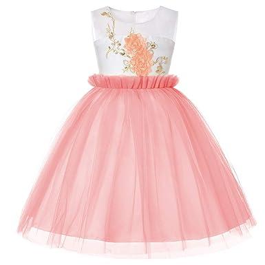 feiXIANG Bambina Bambino Abiti Bownot di Tulle Estivi Abito Senza Maniche  Mini Vestito da Principessa Vestiti da Cerimonia Matrimonio  Amazon.it  ... 1f21b6dc7fc