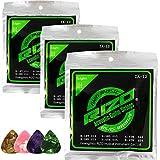 CL FUN Bronze/Phospher Bronze Acoustic Guitar Strings (012-054, 3 Set/pack)