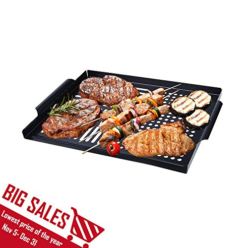 Arctic Monsoon Grill Accessories, High Quality BBQ Grill Tools Grilling Utensils Accessories (Grilling Topper (GP-121)) (Seafood Grill Basket compare prices)