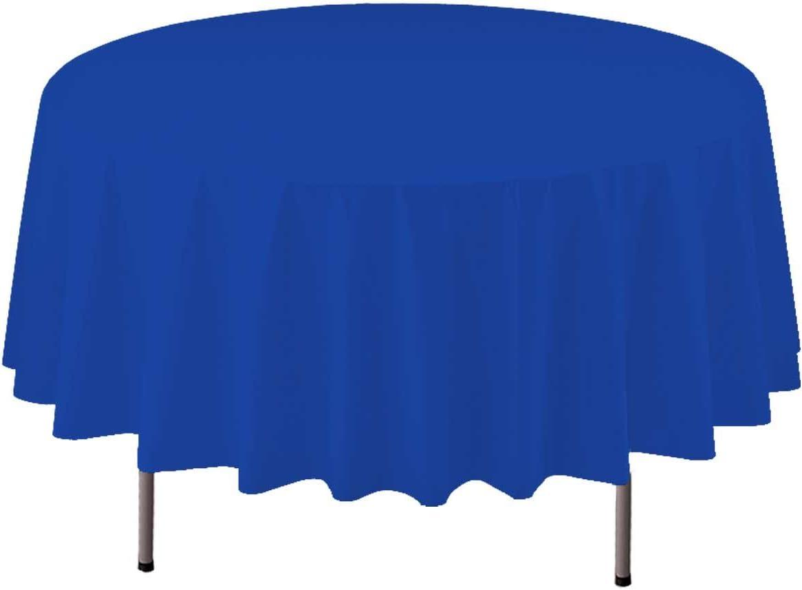 84 Party Essentials ValuMost Round Plastic Table Cover White