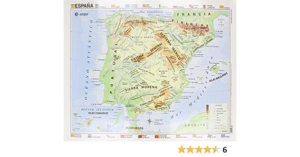 Mapa EDIGOL Poster 70x50 cm Fisico POLITICO sin Varilla ESPAÑA: Amazon.es: AA.VV: Libros