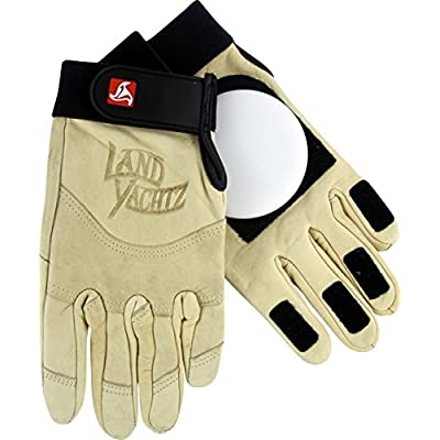 Landyachtz Khaki Leather Small Slide Gloves Downhill Slide Gloves : Skate And Skateboarding Protective Gear : Sports & Outdoors