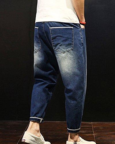 Denim Stretch Pantalón Vaqueros Fit Slim Largos Jeans Hombre Elásticos Marino Azul Pantalones Fn1RqOR