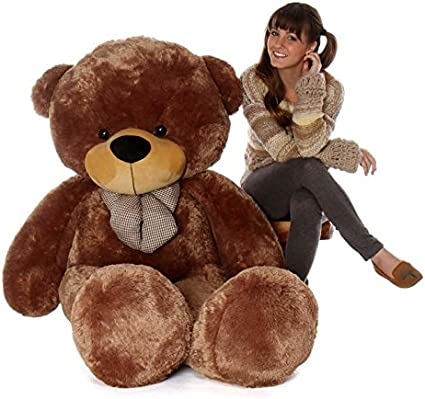 Lovebug Cute Bootsy Brown 90 cm 3 feet Huggable and Loveable for Someone Special Teddy Bear - 90 cm(Brown)