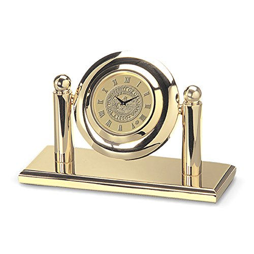 NCAA Oklahoma Sooners Adult Arcade Desk Clock, One Size, Gold
