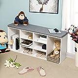 VASAGLE Cubbie Shoe Cabinet Storage Bench with