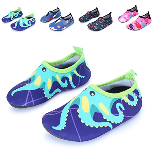 L-RUN Kids' Water Skin Shoes For Beach Sporting Swimming Purple 5-5.5=EU - Skins Swimming In