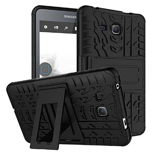 Maomi Samsung Galaxy Tab A 7.0 Case 2016 Release (SM-T280/T285),[Kickstand Feature],Shock-Absorption/High Impact Resistant Heavy Duty Armor Defender Case for Samsung Tab A 7 Inch Tablet (Black)
