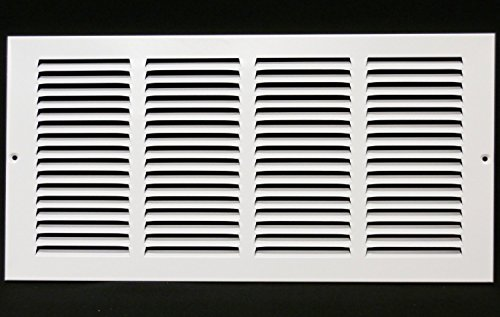 16''w X 14''h Steel Return Air Grilles - Sidewall and Cieling - HVAC DUCT COVER - White [Outer Dimensions: 17.75''w X 15.75''h] by HVAC Premium