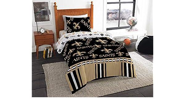 fc4c7fa7c4bf Amazon.com  New Orleans Saints NFL Twin Comforter   Sheet Set (4 Piece  Bedding)  Home   Kitchen