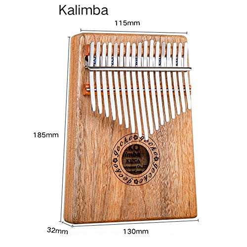 MG.QING Kalimba 17 Key Camphor Wood B-Tone Electronic Thumb Piano Mbira Kalimba Musical Instrument,A by MG.QING (Image #5)