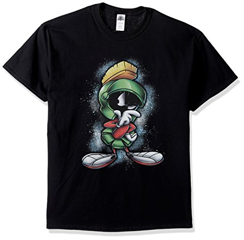 Looney Tunes Men's Marvin The Martian T-Shirt, Black, L