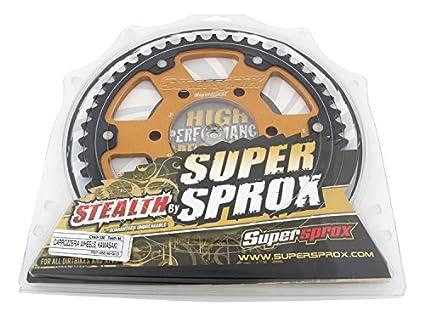 Supersprox Stealth Gold 530 46 Tooth Rear Sprocket for Kawasaki Ninja ZX-12R ZX-9R ZX ZXR ZZ-R 1200