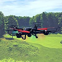 ASR Extreme XFlyer XDGX-1003 2.4GHz HD Camera 6-Axis Quad Copter LED Drone Black