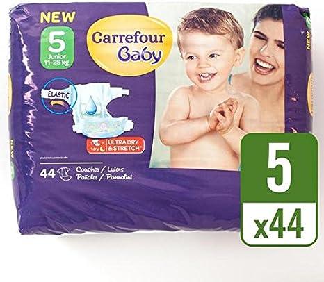 Carrefour Baby Pack de 44 Pañales ultra dry talla 5 por paquete ...
