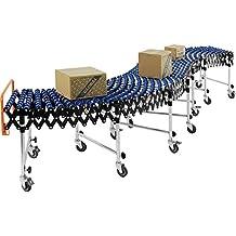 "24""W Portable Flexible & Expandable Conveyor, Nylon Skate Wheels, 6'2"" to 24'8"""