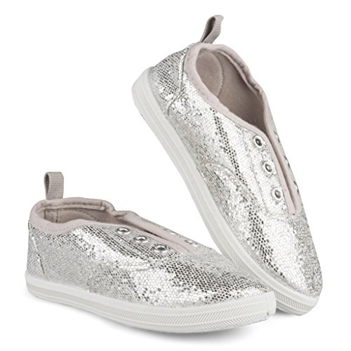 12fb57902930 Sugar   Spice Girls Sneakers  Lace-Less Bling Glam Tennis Shoes For Little  Kids