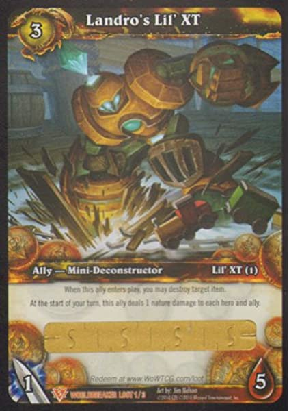 Amazon Com World Of Warcraft Worldbreaker Loot Card Landro S Lil Xt 1 3 Toys Games