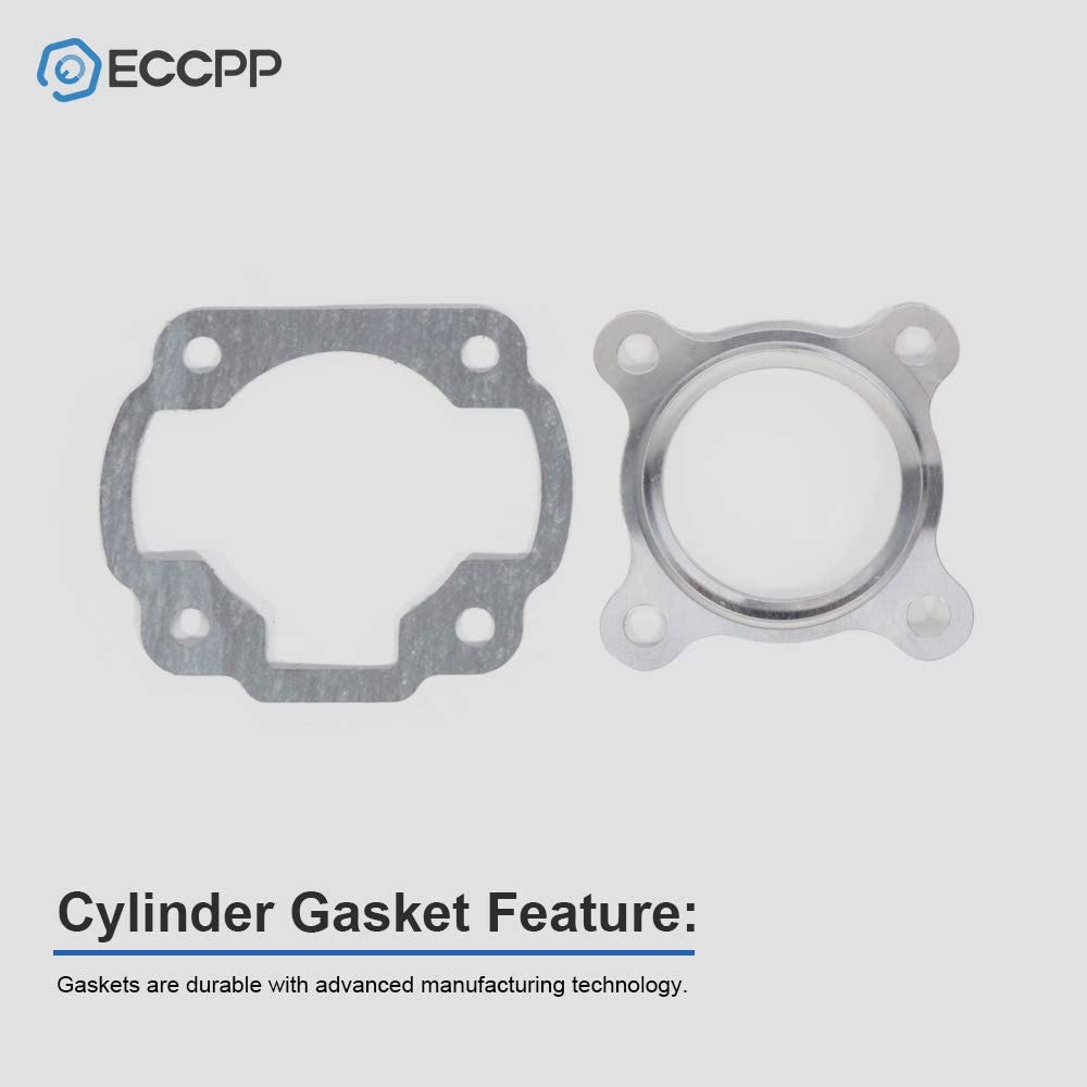 ECCPP New Cylinder Piston Ring Gasket for 2001-2003 Polaris Scrambler 50 Compatible fit for Cylinder Piston Gasket Top End Kit 0450006