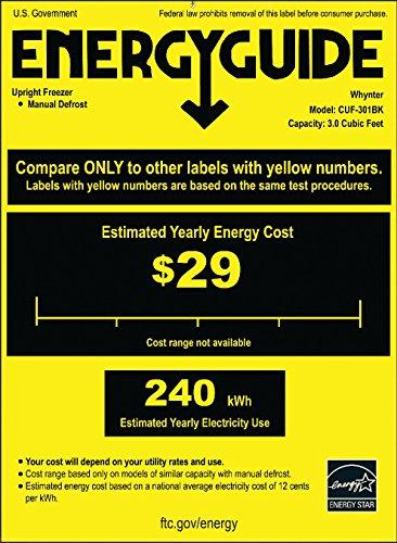 Buy energy efficient upright freezer