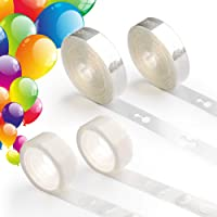 Coogam Balloon Arch Garland Decorating Strip Kit - 64 ft Ballon Tape Strips and 200 Dot Glue for Birthday Wedding Baby…