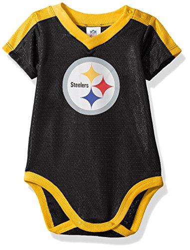 - NFL Pittsburgh Steelers Unisex-Baby Dazzle Bodysuit, Black, 18 Months
