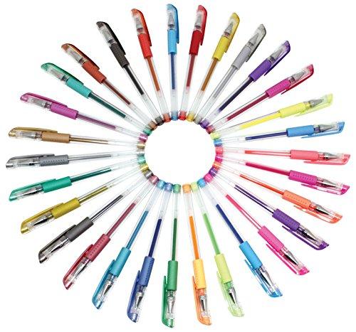 Sargent Art 22-0009 30 Gel Pen Set, Glitter, Fluorescent and Metallic