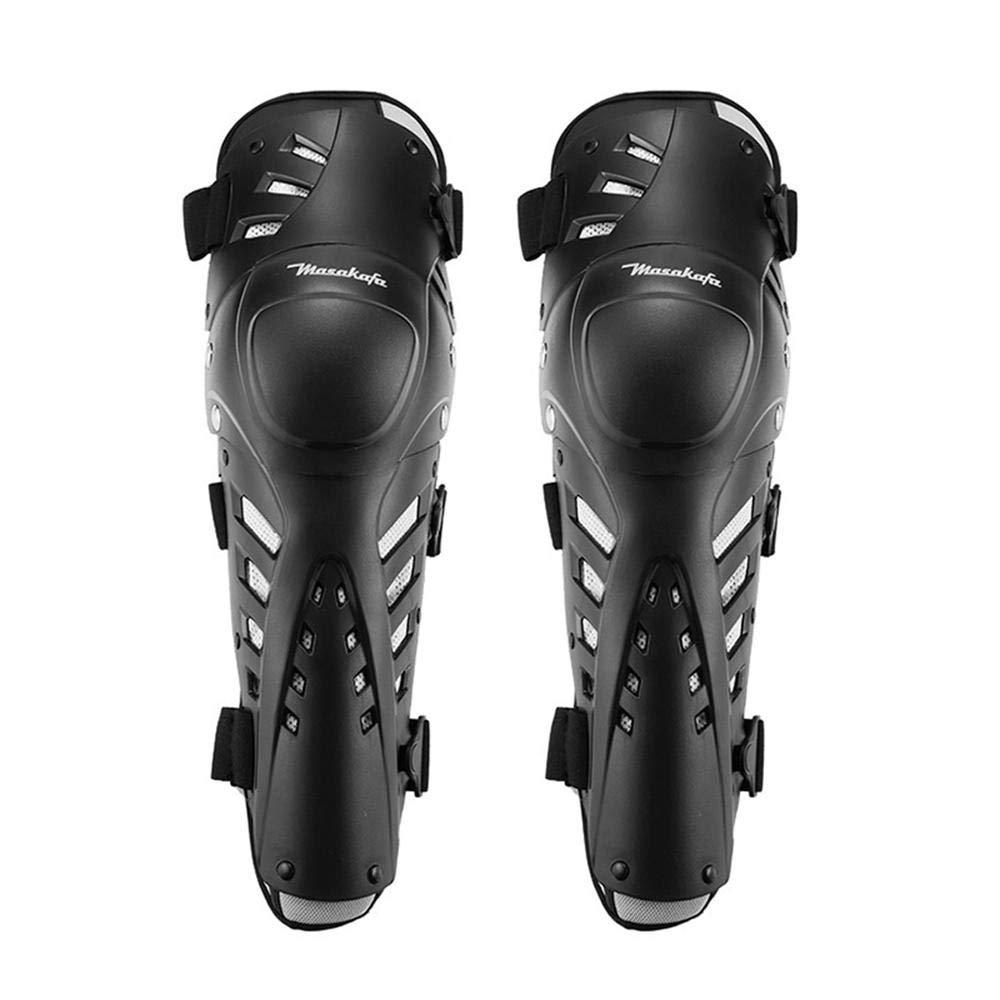 Aolvo Ginocchiere per Moto proteggi-manica lunga regolabile nero Crashproof Parastinchi protettivi antiscivolo per moto Mountain Biking -1 paio