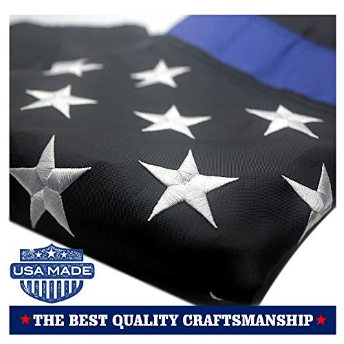 VSVO Thin Blue Line American Police Flag 3x5 ft: Made in USA