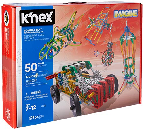 51OqT96al2L - K'NEX Imagine – Power and Play Motorized Building Set – 529 Pieces – Ages 7 and Up – Construction Educational Toy