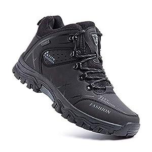 Hitmars Chaussure Randonnee Hommes Antidérapants Chaussure de Marche Respirant Bottes Trekking Basses de Plein Air Noir…