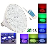 Wireless Control Color Changing LED Pool Light Bulb w/ RF Remote Fits Pentair and Hayward Light Fixture Niche PAR56 E26/E27 (35 Watt, 12 Volt)